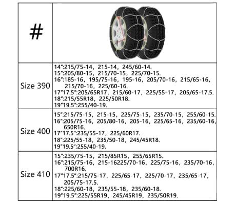 Schneeketten 2er 12mm KN 80 195/65-15 205/55-15 205/60-15 215/50-15[7/7]