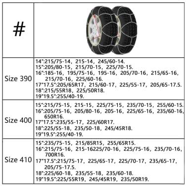 Schneeketten 2er 12mm KN 120 215/65-16 225/60-16 235/60-16 225/55-17[7/7]