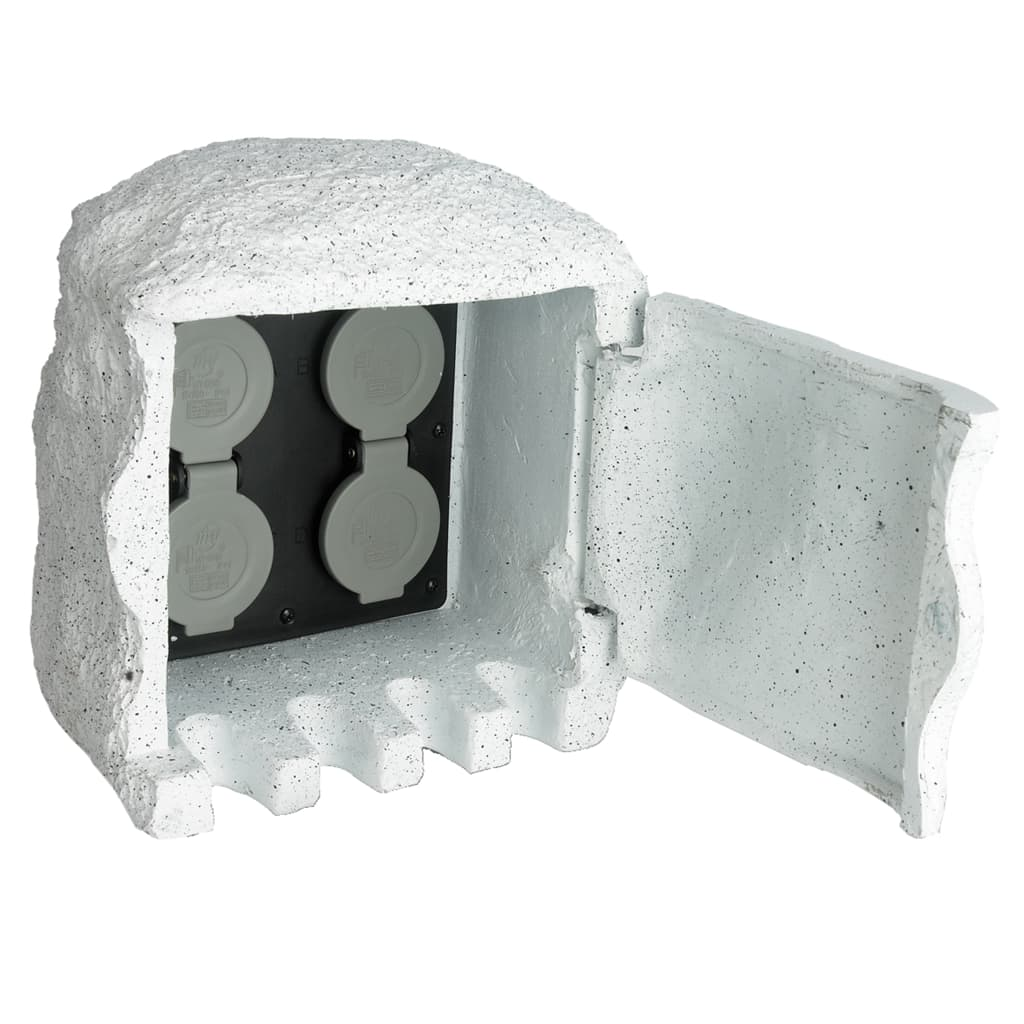 Zásuvka  z umělého kamene s dálkovým ovladačem pro zahradu