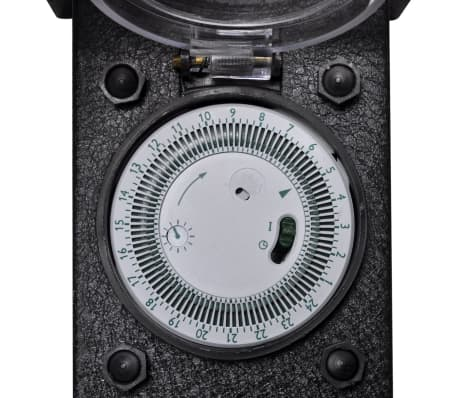 Buitenstopcontact op zuil met tijdschakelaar (zwart)[5/5]