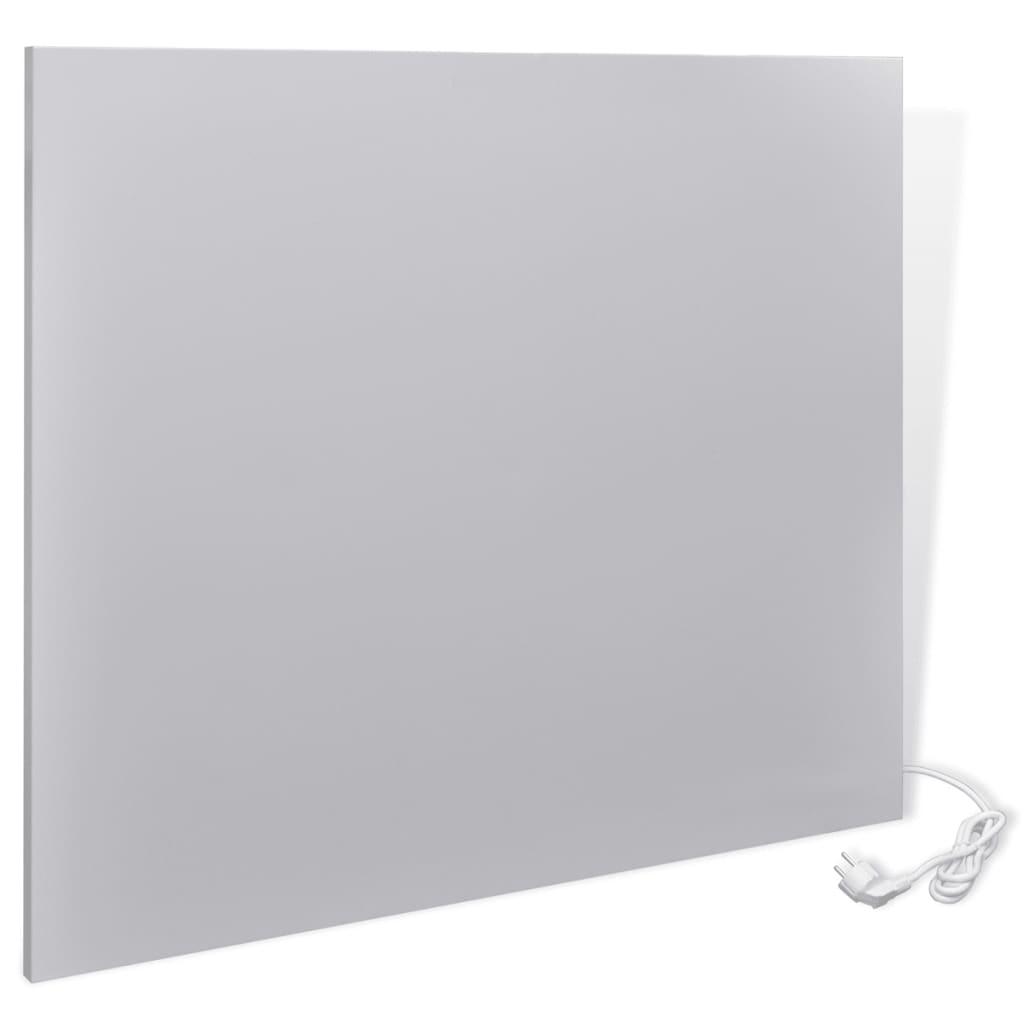 Infračervený topný panel nástěnný 750 W 95 x 81 x 2,5 cm, světlé šedý