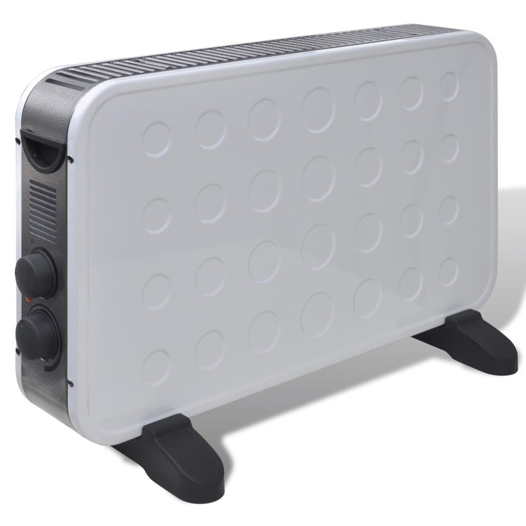 Bílý elektrický ohřívač s 2 teplotními nastaveními 2000 W