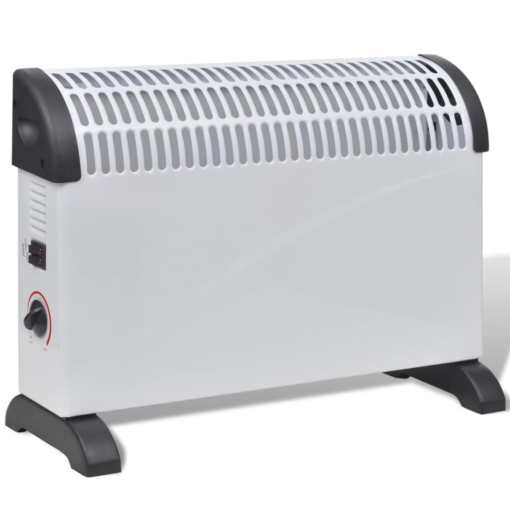 Radiator electric cu 3 trepte de căldură 2000 W Alb poza 2021 vidaXL