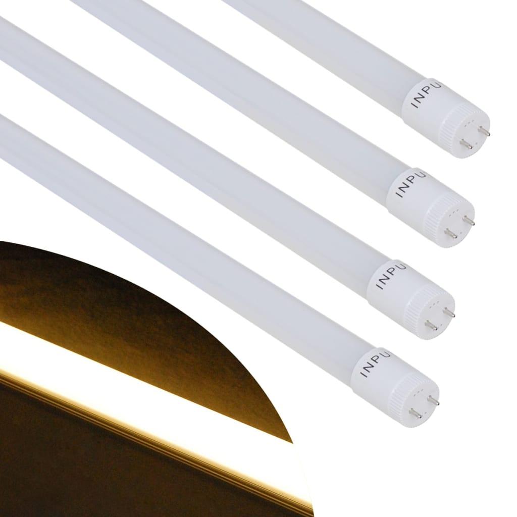4 ks T8 LED trubice / zářivky teple bílé 9 W 60 cm
