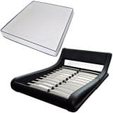 vidaXL Bed met traagschuim matras kunstleer zwart 180x200 cm