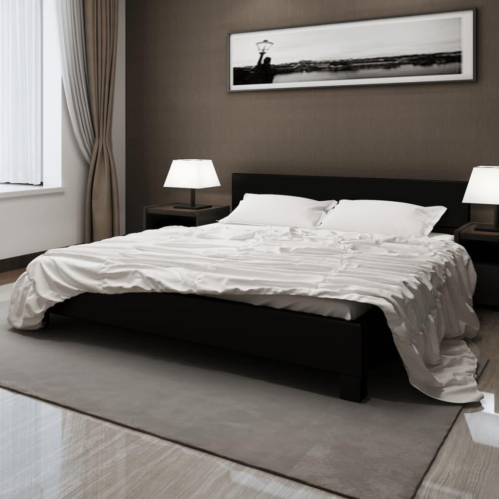 vidaXL Pat cu saltea, spumă cu memorie, negru, 180 x 200 cm, piele eco imagine vidaxl.ro