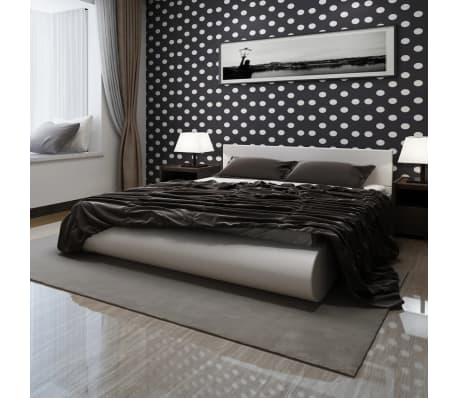wei es kunstlederbett mit erh hung und memory foam matratze 140x200 cm g nstig kaufen. Black Bedroom Furniture Sets. Home Design Ideas