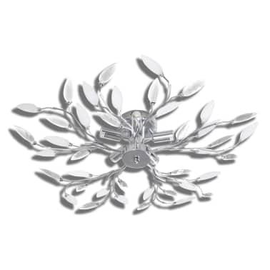 vidaXL Lampada da Soffitto Bianca Trasparente Cristalli Acrilici 5 E14[2/7]