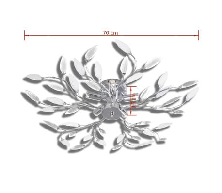vidaXL Lampada da Soffitto Bianca Trasparente Cristalli Acrilici 5 E14[5/7]