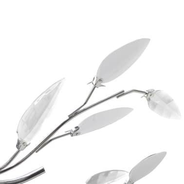 vidaXL Lampada da Soffitto Bianca Trasparente Cristalli Acrilici 5 E14[3/7]