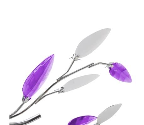 vidaXL Lampada da Soffitto Bianco e Viola in Cristalli Acrilici 5 E14[3/6]