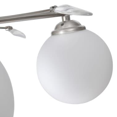 vidaXL Taklampa med transparenta akrylblad och glaskupor 4 G9-lampor[3/7]