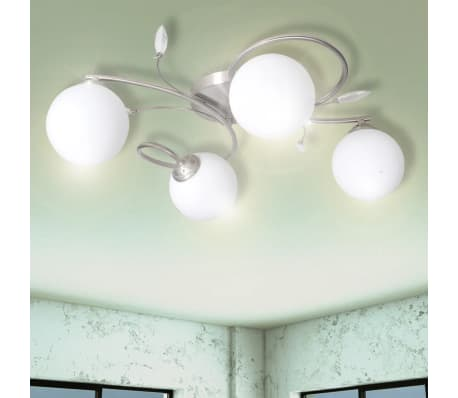 Ceiling Lamp Transparent Acrylic Leaves and Glass Shades for 4 G9Bulbs[1/7]