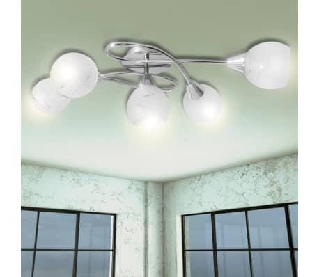 vidaXL Taklampa med ovala glaskupor för 5 E14-lampor[1/7]