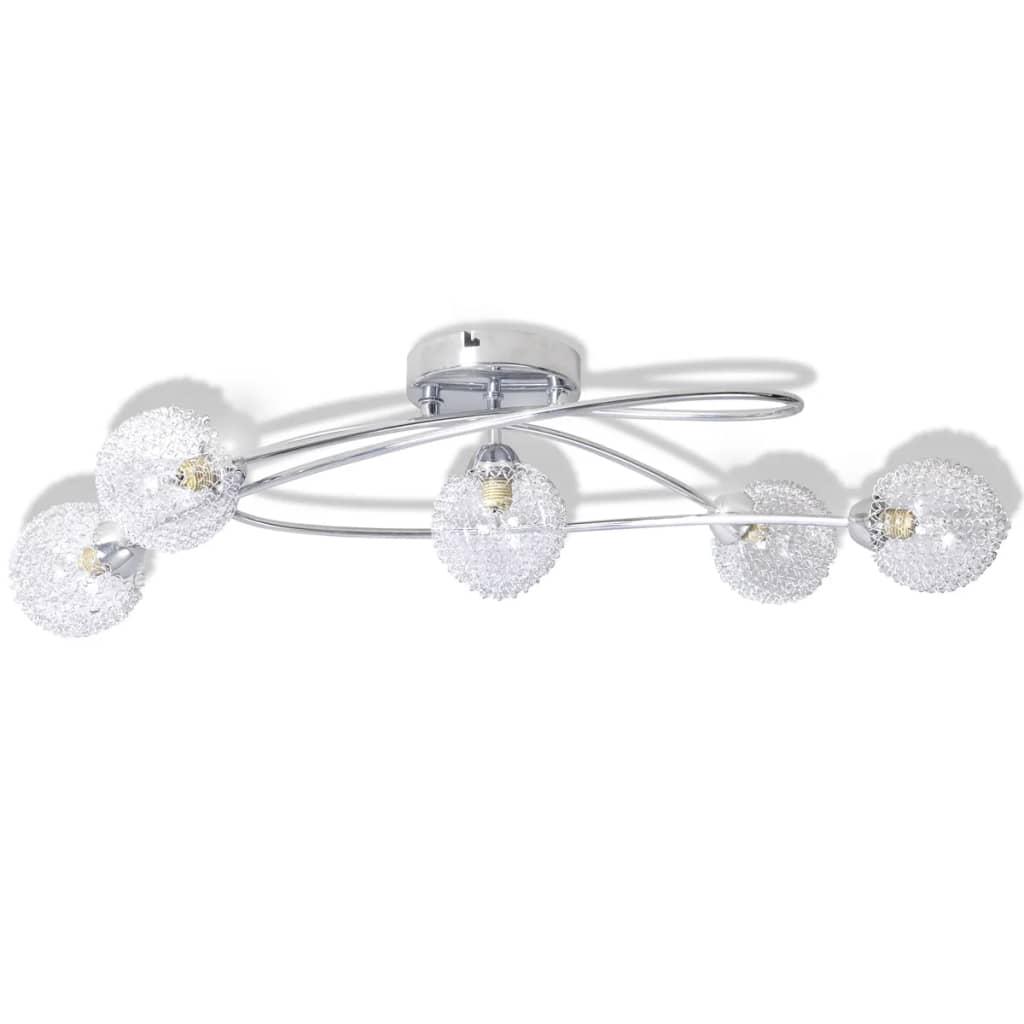 vidaXL Φωτιστικό Οροφής με Καπέλα από Συρματόσχοινο για 5 Λάμπες G9