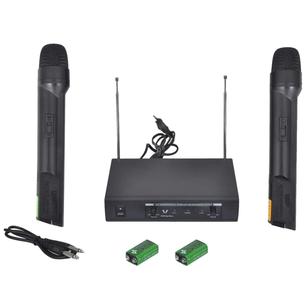 Bezdrátový mikrofonní systém VHF - přijímač se 2 mikrofony