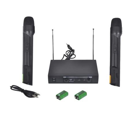vidaXL Receptor con 2 micrófonos inalámbrico VHF[1/6]