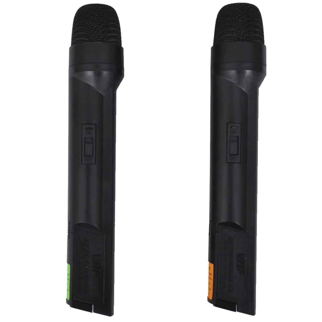 Foto van vidaXL Ontvanger met 2 draadloze microfoons VHF