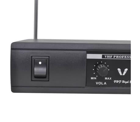 vidaXL Receptor con 2 micrófonos inalámbrico VHF[5/6]