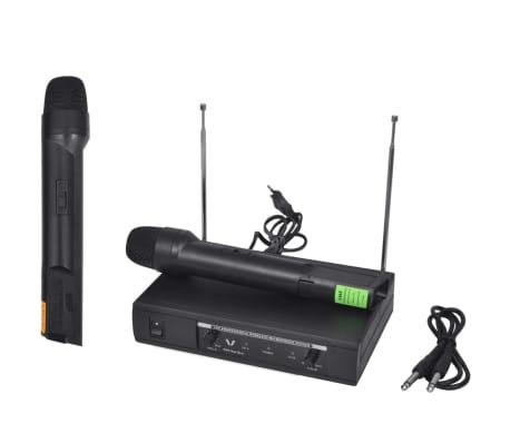 vidaXL Receptor con 2 micrófonos inalámbrico VHF[6/6]