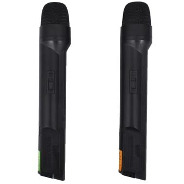 vidaXL Receptor con 2 micrófonos inalámbrico VHF[2/6]