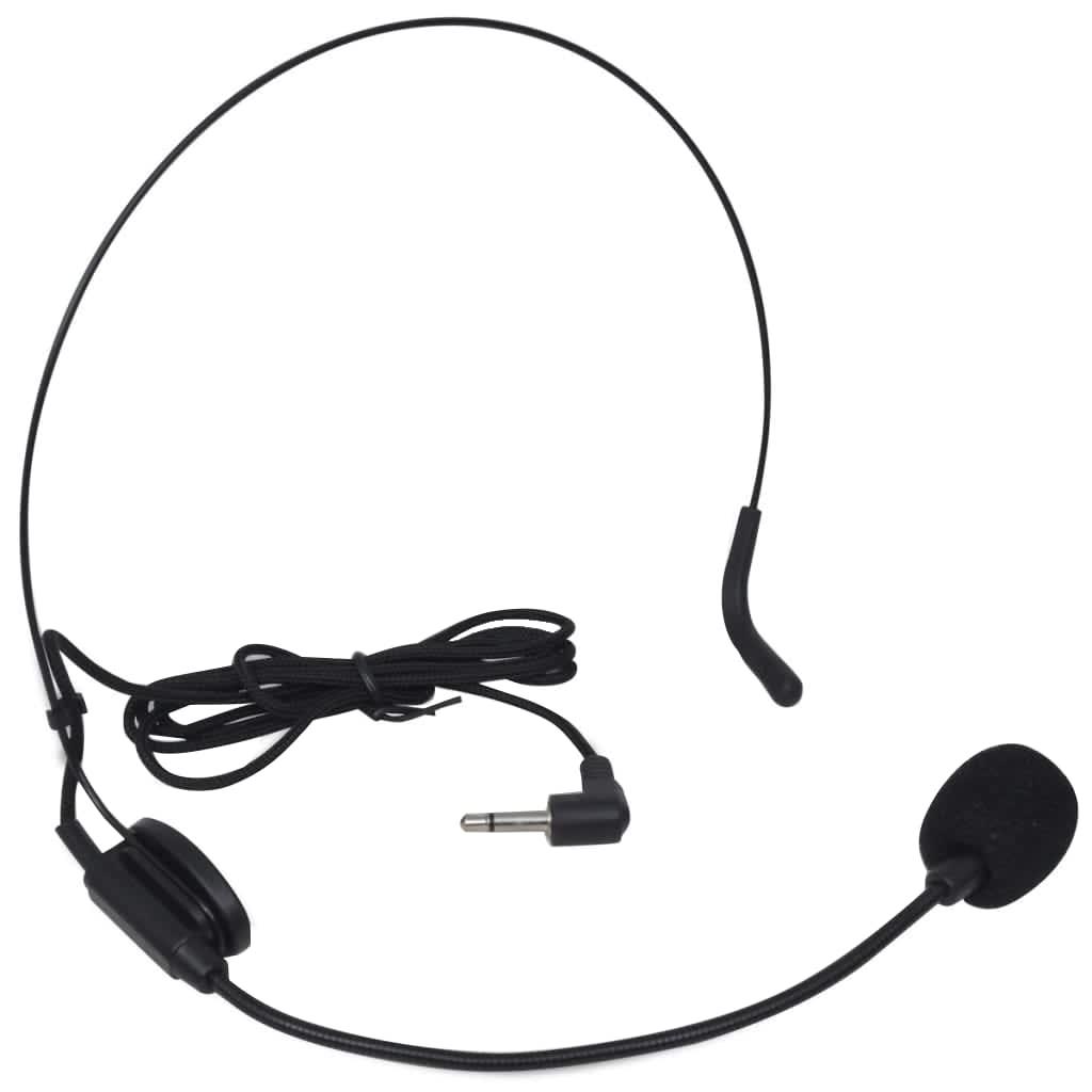 vidaXL Ontvanger met 1 draadloze microfoon en 1 draadloze koptelefoon VHF