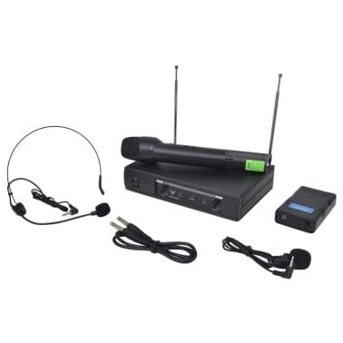 Ontvanger met 1 draadloze microfoon en 1 draadloze koptelefoon VHF[4/4]