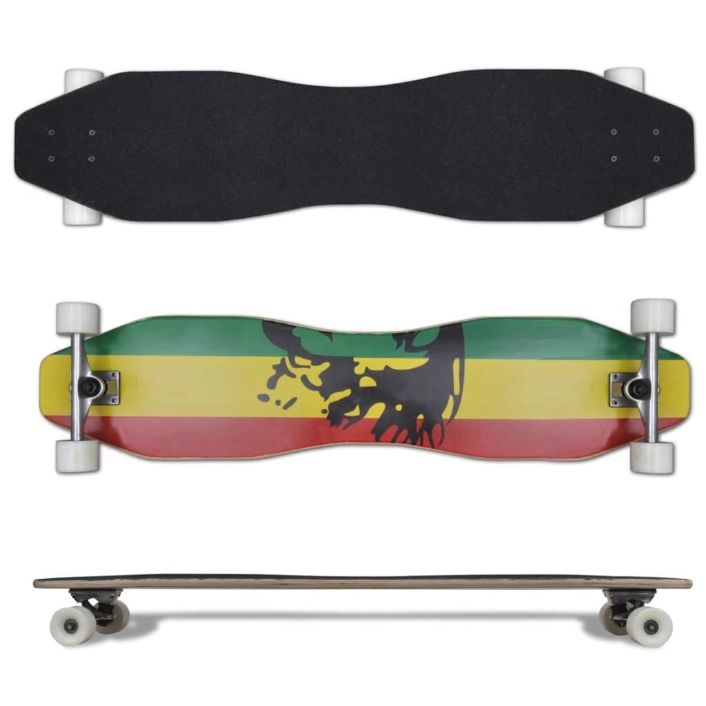 Jamajka longboard ve tvaru osmičky, 104 cm