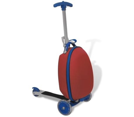 vidaXL Scooter with Trolley Case for Children Red-picture