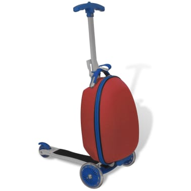 vidaXL Scooter with Trolley Case for Children Red[1/8]