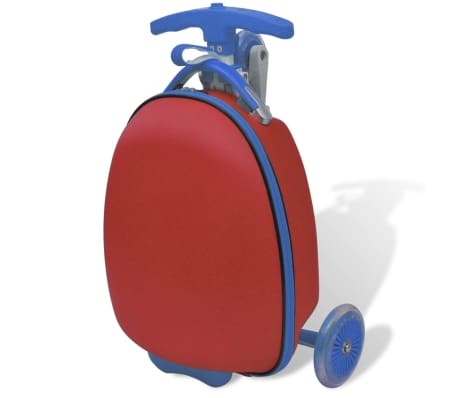 vidaXL Scooter with Trolley Case for Children Red[2/8]