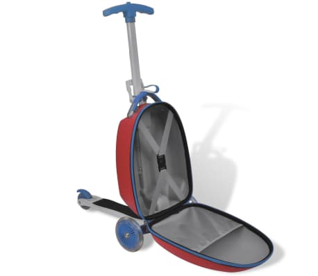 vidaXL Scooter with Trolley Case for Children Red[3/8]
