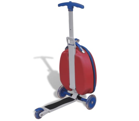vidaXL Scooter with Trolley Case for Children Red[5/8]