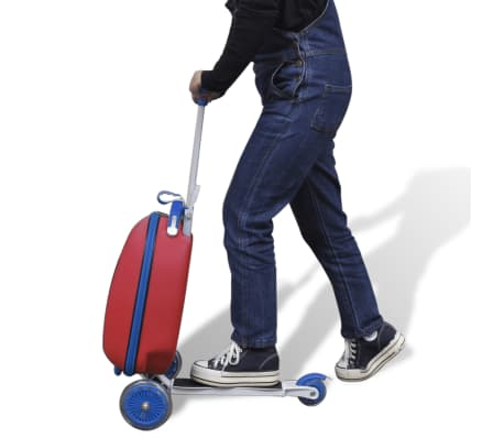 vidaXL Scooter with Trolley Case for Children Red[6/8]