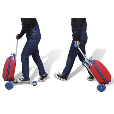 vidaXL Scooter with Trolley Case for Children Red[8/8]