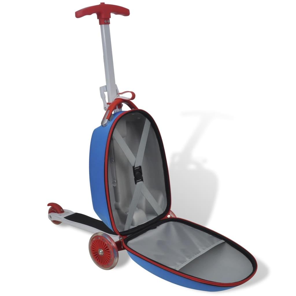 roller mit koffer kinder kinderscooter reisekoffer trolley. Black Bedroom Furniture Sets. Home Design Ideas
