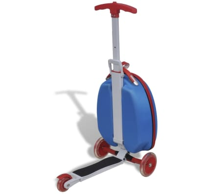 vidaXL Scooter with Trolley Case for Children Blue[2/8]