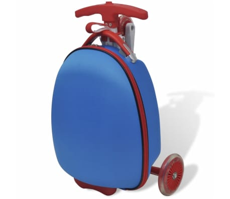 vidaXL Scooter with Trolley Case for Children Blue[3/8]