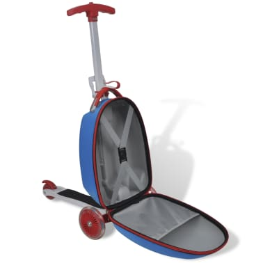 vidaXL Scooter with Trolley Case for Children Blue[5/8]