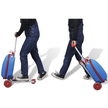 vidaXL Scooter with Trolley Case for Children Blue[8/8]