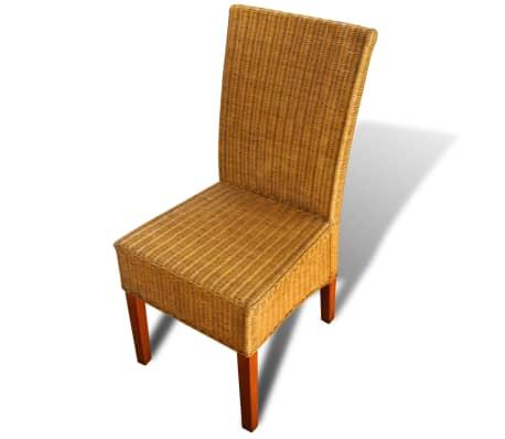 Set de 2 sillas de comedor rat n hecho a mano for Set sillas comedor