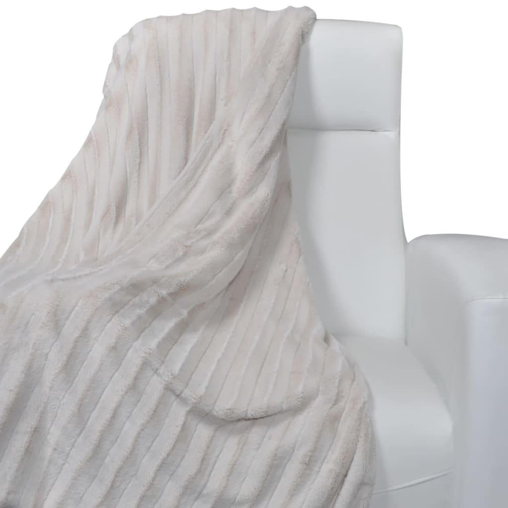 Béžová deka z umělé kožešiny 150 x 200 cm
