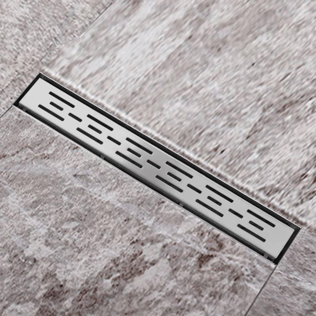Sprchový podlahový žlab odtokový z nerezové oceli, linie 540 x 110 mm