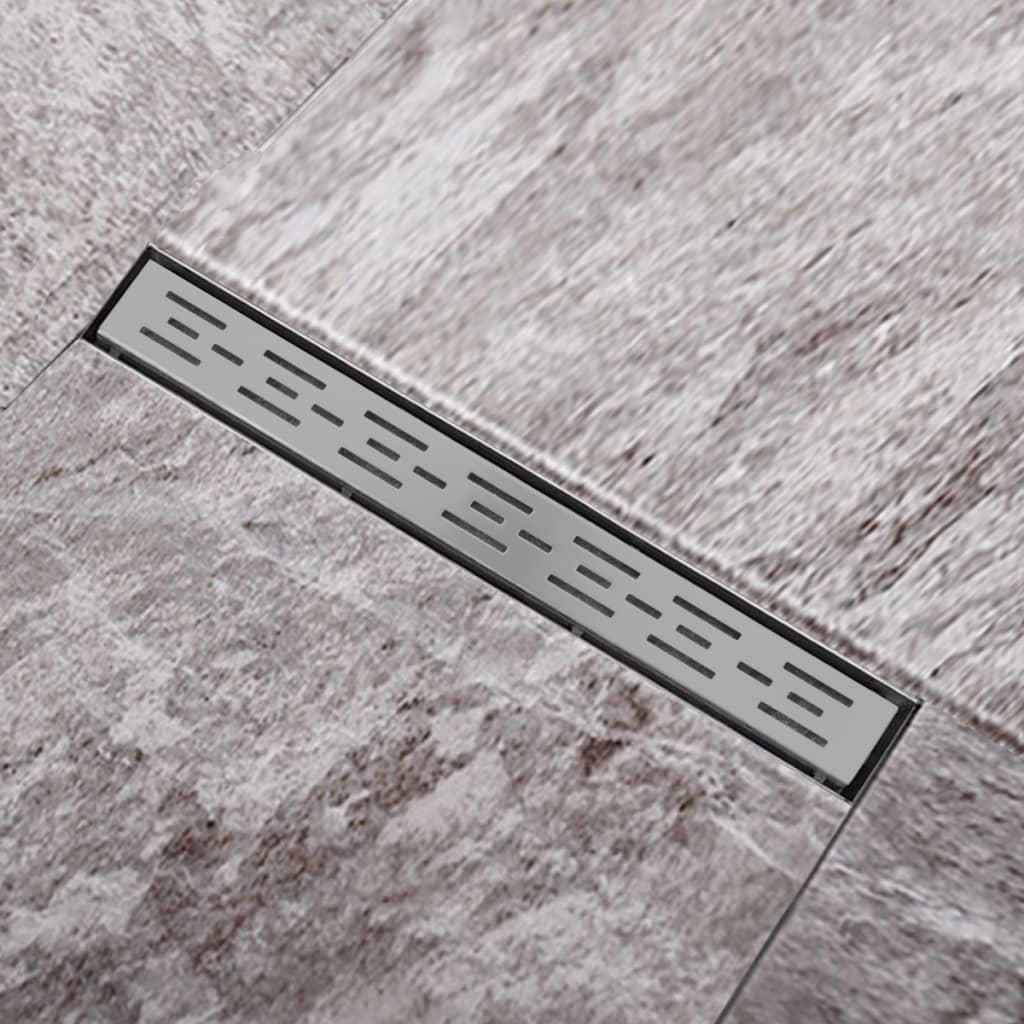 Sprchový podlahový žlab odtokový z nerezové oceli, linie 640 x 110 mm