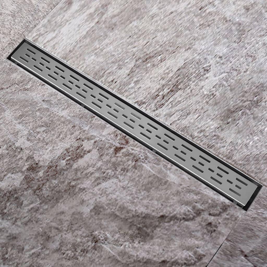 Sprchový podlahový žlab odtokový z nerezové oceli linie 1240 x 110 mm