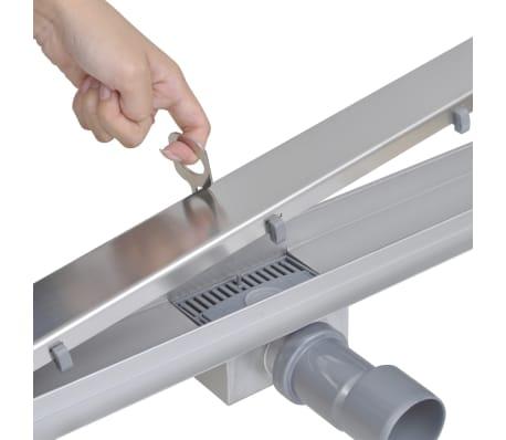acheter caniveau de douche lin aire en acier inoxydable 540 x 110 mm pas cher. Black Bedroom Furniture Sets. Home Design Ideas
