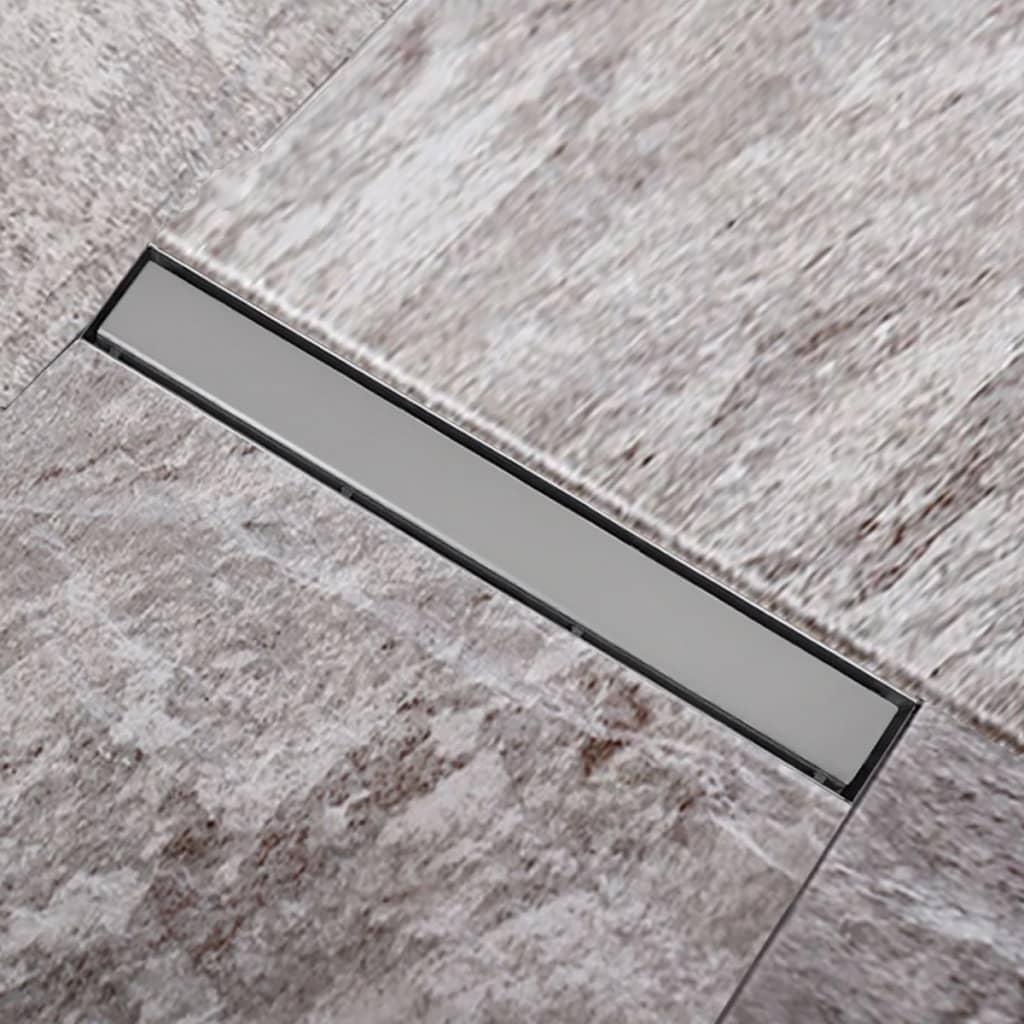 Sprchový podlahový žlab odtokový z nerezové oceli 640 x 110 mm