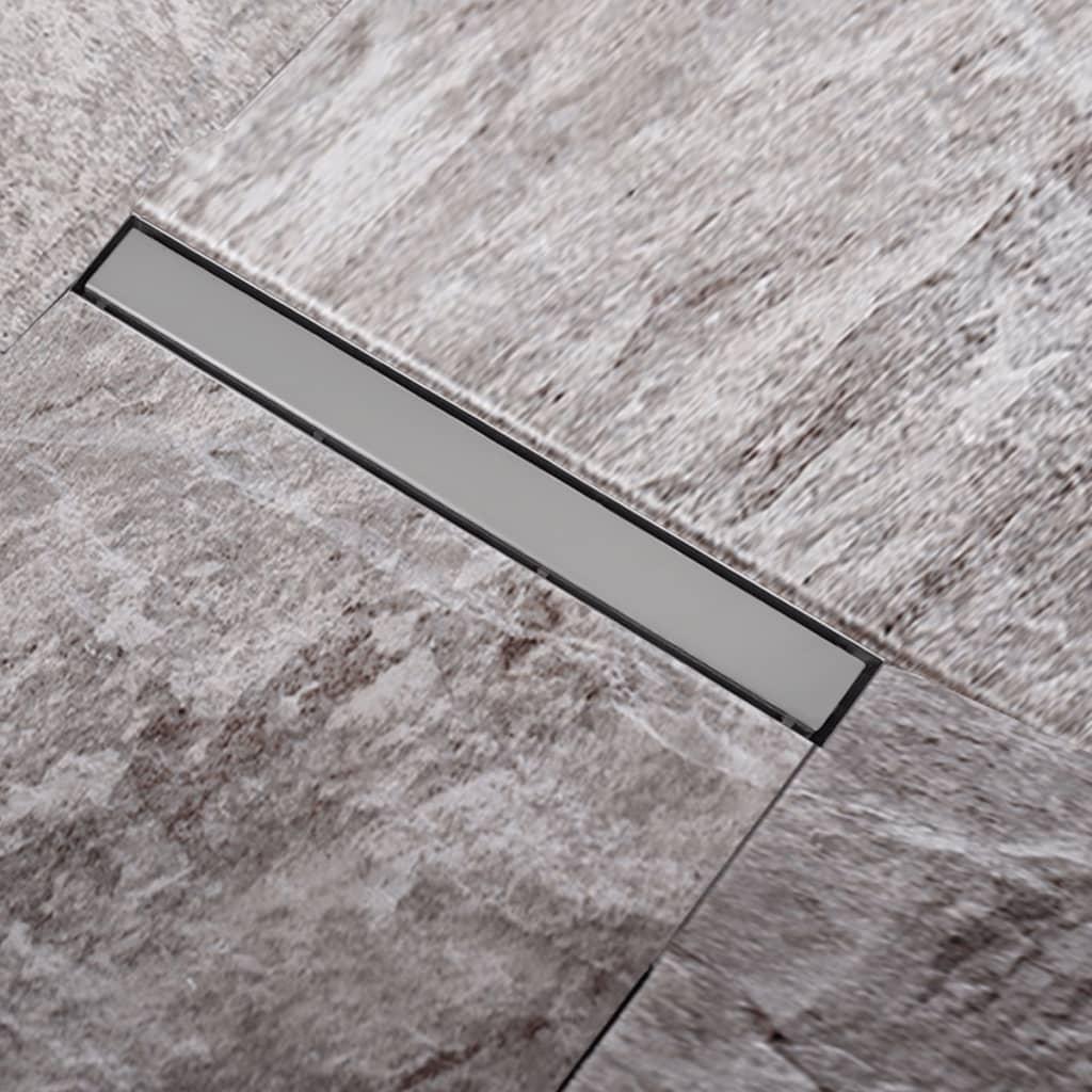 Rigolă liniară pardoseală duș oțel inoxidabil 740 x 110 mm poza vidaxl.ro