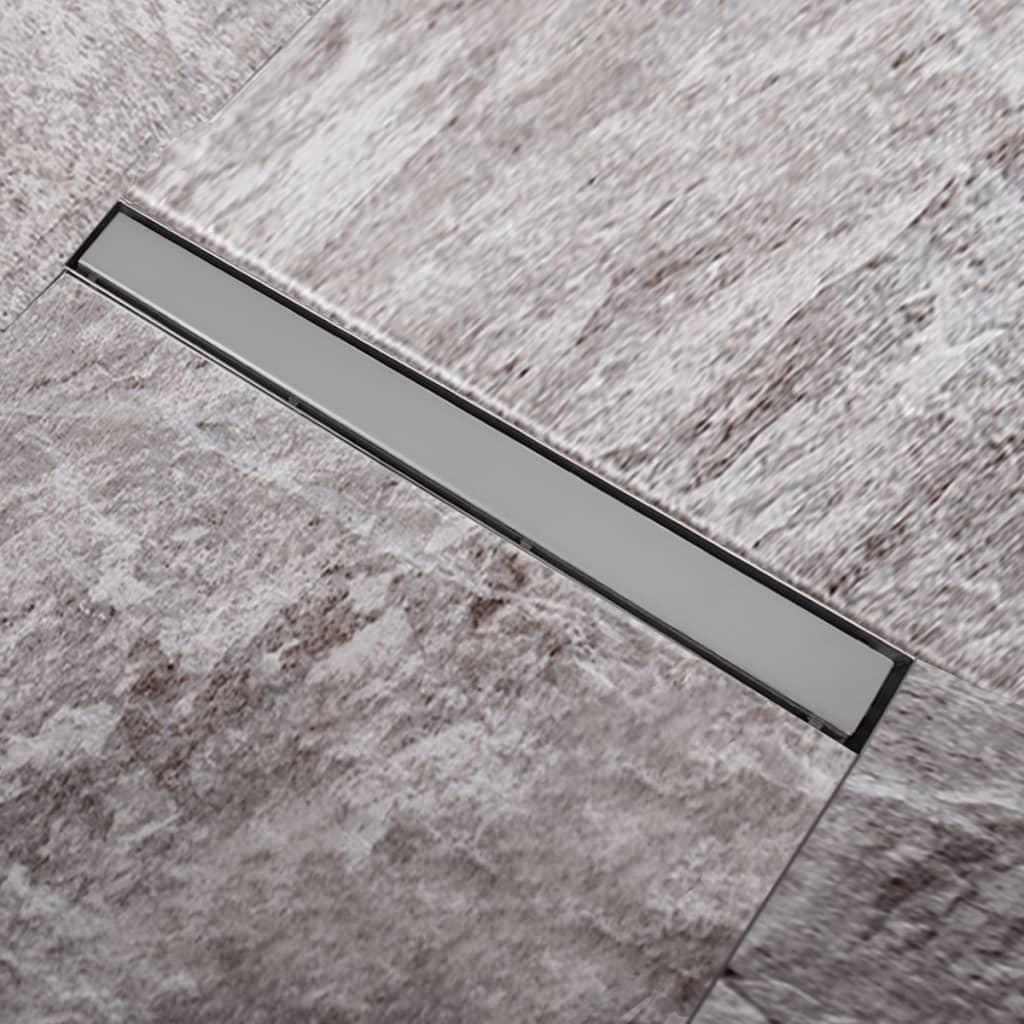 Rigolă liniară pardoseală duș oțel inoxidabil 840 x 110 mm poza 2021 vidaXL