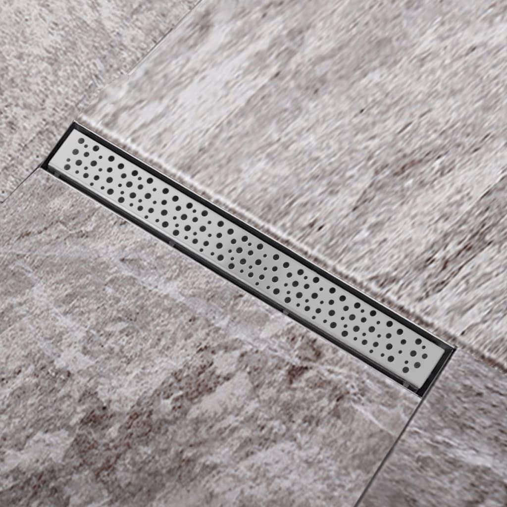 Sprchový podlahový žlab odtokový z nerezové oceli, bubliny 640 x 110mm